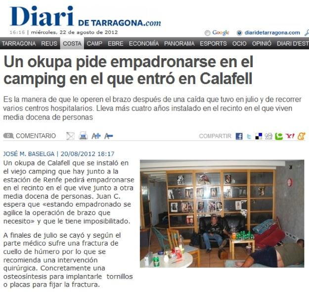 Un okupa pide empadronarse en el camping en el que entró en Calafell-Diari de Tarragona (1).jpg