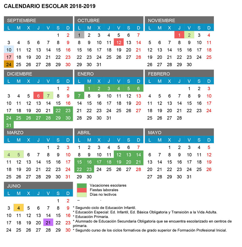 CalendarioEscolar18-19